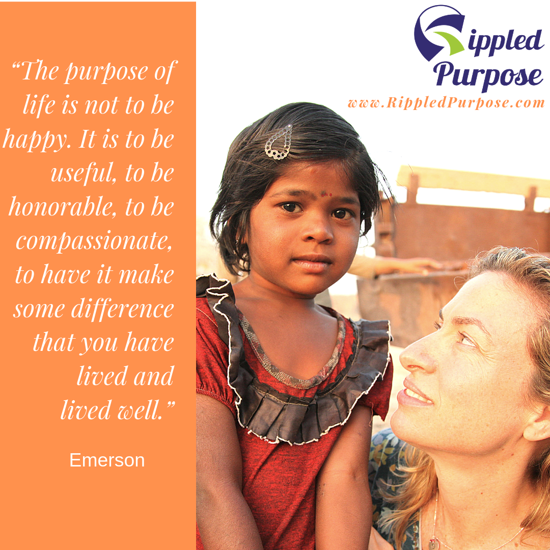 Blessed Lotus and Rippled Purpose founder DeAnne Wingate in India.