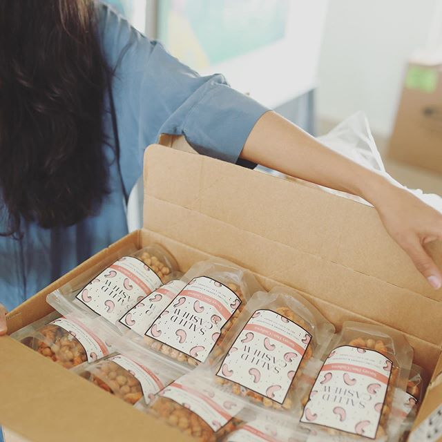 Packing up and shipping out! We had an amazing long weekend and back at it with our bulk orders! Our savory duo with cashews has officially become a top favorite! 🧡