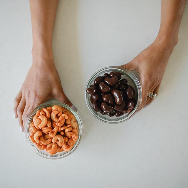 Help please! Which one do you want to see next? Chili lime cashews or chocolate covered cashews?! I love hearing what you love and don't love about our snacks, it truly helps us grow. Expanding our product lines are always on our mind and we want to know what you want!  Comment Below👇🏽
