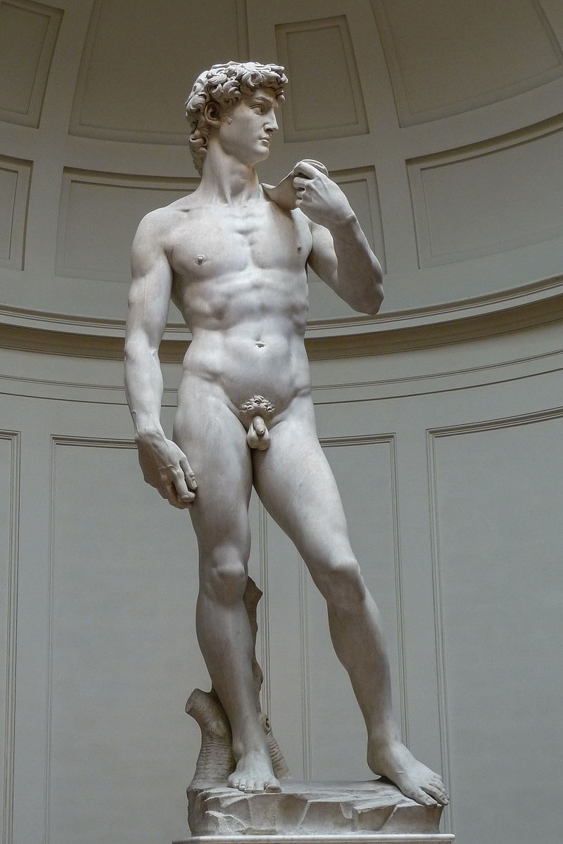 5. David by Michelangelo (Galleria dell'Accademia, Florence) - Michelangelo carved this free-standing, colossal nude statue out of a single block of marble in less than three years. Over 17 feet tall, it depicts David glaring at his enemy Goliath just before battle. Once guarding city hall (and now protected from the elements inside the Accademia), the statue has stood as a symbol of the power and faith of Florentines for over 500 years.