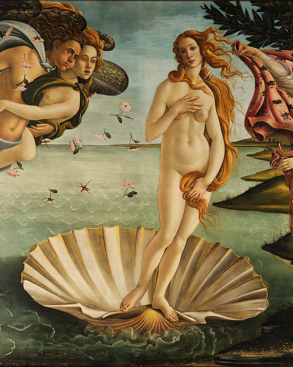 6. Birth of Venus by Botticelli (Uffizi in Florence) - A few years after Sandro Botticelli painted this masterpiece, the doomsday preacher Girolamo Savonarola rose to power in Florence. Botticelli became a devout follower and burned some of his paintings on Savonarola's famed Bonfires of the Vanities (where Florentines burned their material goods on massive, civic bonfires). But, thankfully, this painting—a near-perfect example of Botticelli's graceful, idealized style—survived.
