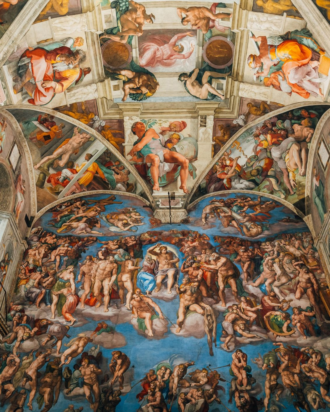 The Sistine Chapel (Vatican City) - Okay, this is not a single work, but an entire chapel including a series of frescos around the walls painted by Old Masters like Perugino and Botticelli, the iconic ceiling by Michelangelo, and the sublime Last Judgment altar wall also painted by Michelangelo–twenty years after his triumph on the ceiling. All roads in Italy lead to Rome. All roads in Rome lead to the Vatican. And all roads in the Vatican lead to the Sistine. Go. It's worth it. A picture cannot do it justice.