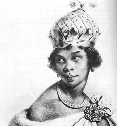 Queen Anna Nzinga - When the Portuguese slave trade invaded her homeland, Queen Nzinga resisted. During her negotiations for peace, a Portuguese representative offered her a mat on the floor, instead of a chair, as a sign of her inferiority. So, she ordered one of her servants to the ground, and she sat on his back, raising her to equal footing with any man at the table.