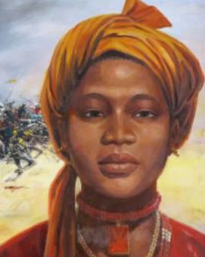 Amina, Queen of Zazzau (now Zaria in north central Nigeria - his fierce warrior queen built Zazzau into a powerful trade center. She refused to take a husband for fear of diluting her power, but after each victory, did take a lover from the conquered people — and promptly killed him the next morning so she wouldn't become too attached.