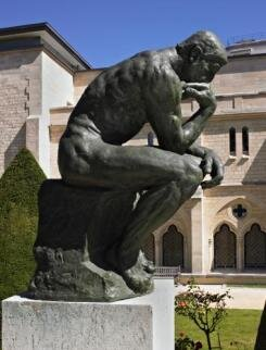 The Thinker by Rodin at the Rodin Museum - There are numerous casts of The Thinker around the world, but THIS one is particularly worth seeing because it is surrounded by so many other Rodin masterpieces. At the Rodin Museum, the great sculptor seems just within your grasp. The Thinker — a representation of Dante and originally titled The Poet — was part of Rodin's Gates of Hell sculptural group, but now it stands alone as one of the most famous sculptures in modern history. Be careful, this statue could ruin your carefree French vacation: Looking up at Rodin's masterpiece may make YOU think about life, death, heaven, hell, and the future of us all.