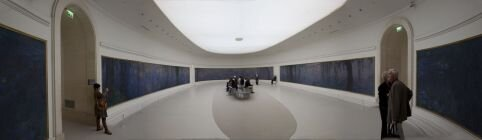 Panorama of Monet's Waterlilies at the l'Orangerie