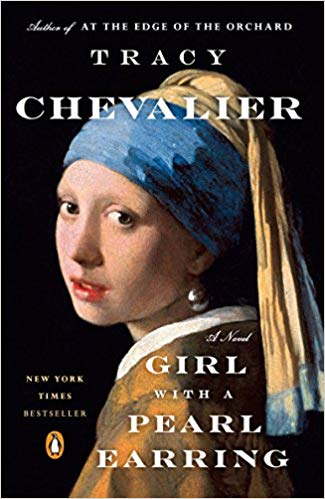 Girl with a Pearl Earring by Tracy Chevalier - About Vermeer's masterpiece by the same name — a great book and brilliant movie starring Scarlett Johanson and Colin Firth. This popular novel explores the creation of this painting through the eyes of its subject.