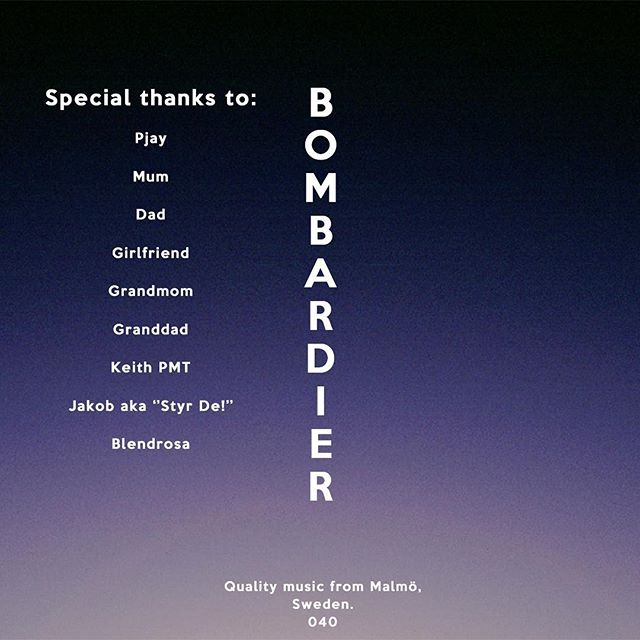 A new song , with a new direction of sound, with a lot of hard work behind it.  Let me introduce.... BOMBARDIER