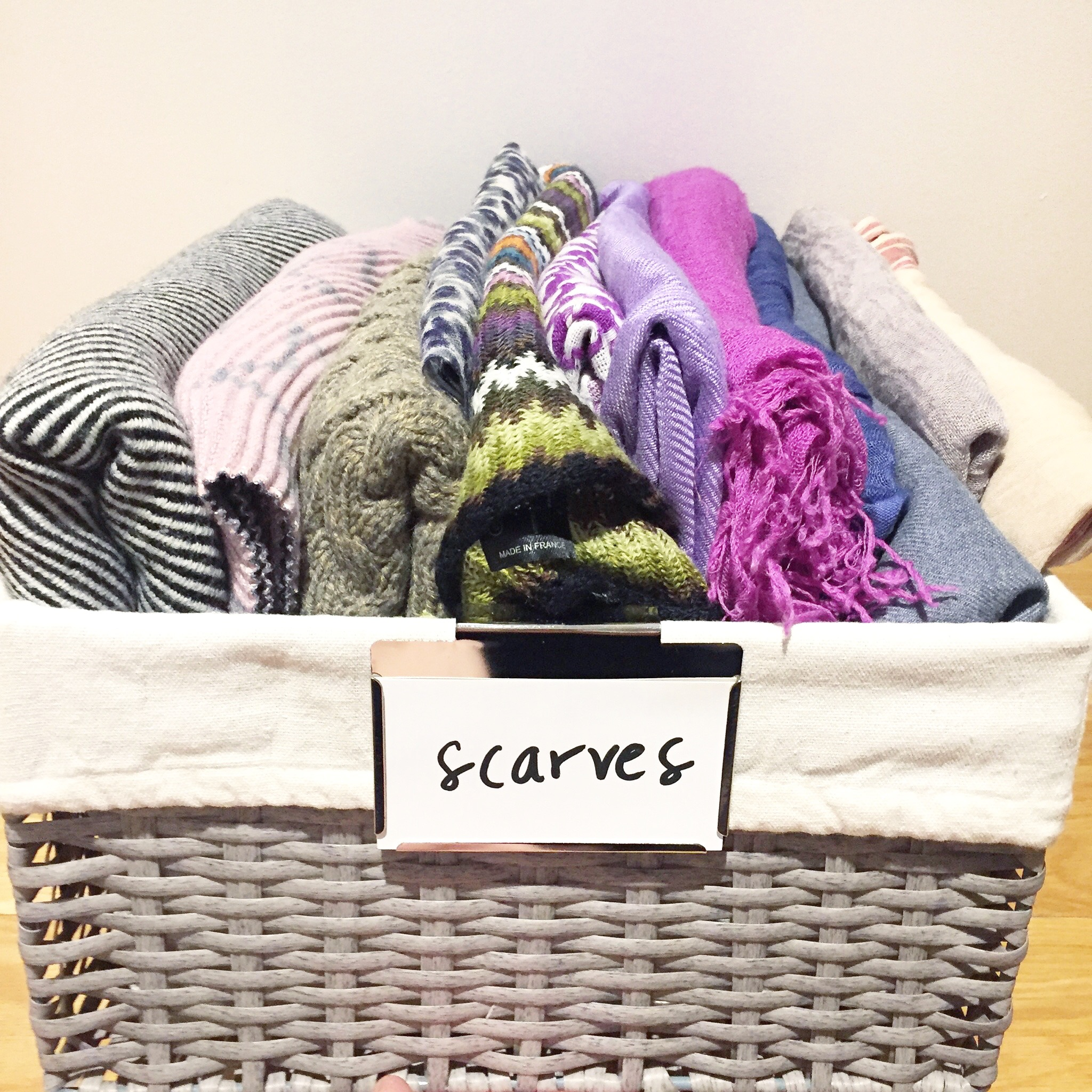 File Folded Scarves
