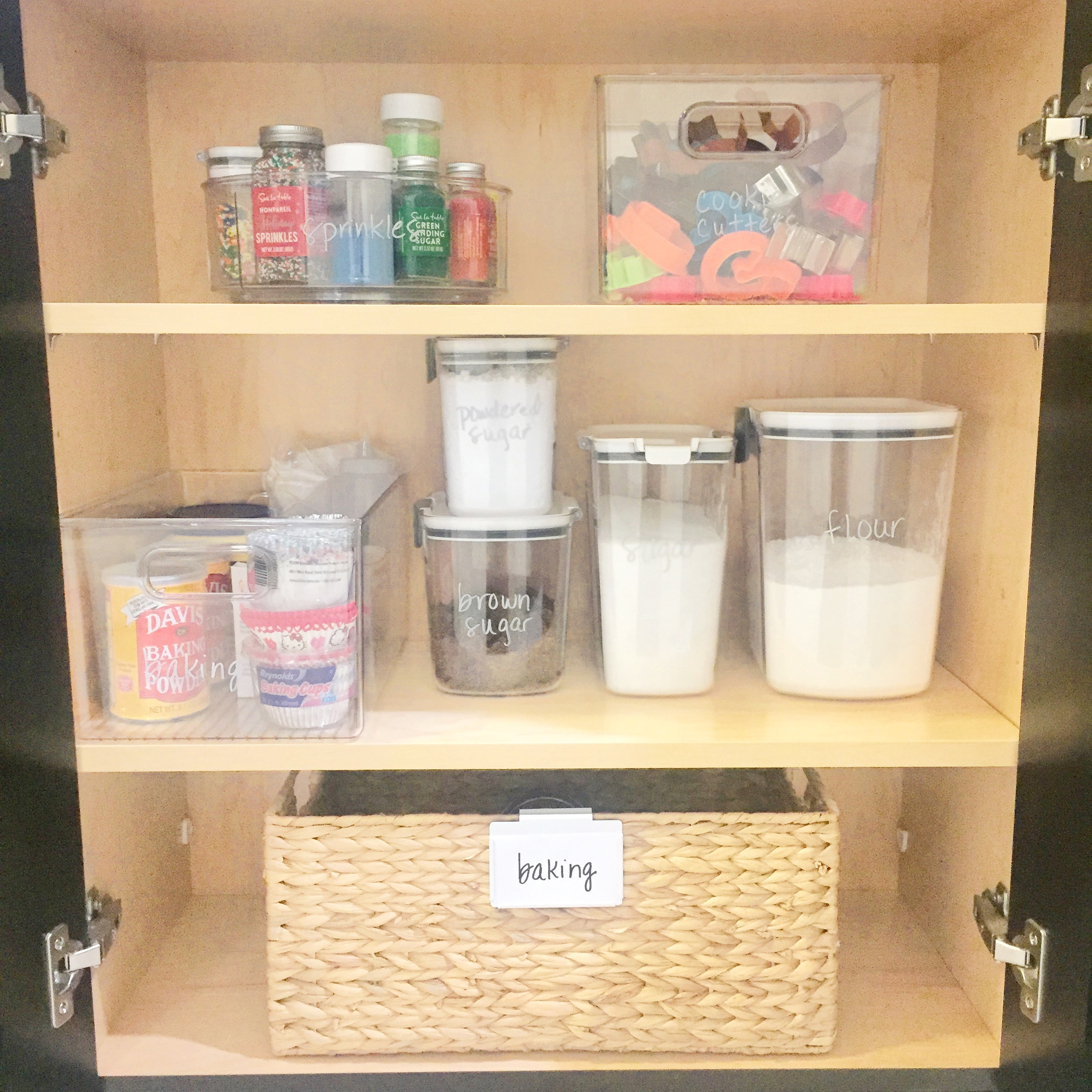 Kitchen Baking Supplies Cabinet