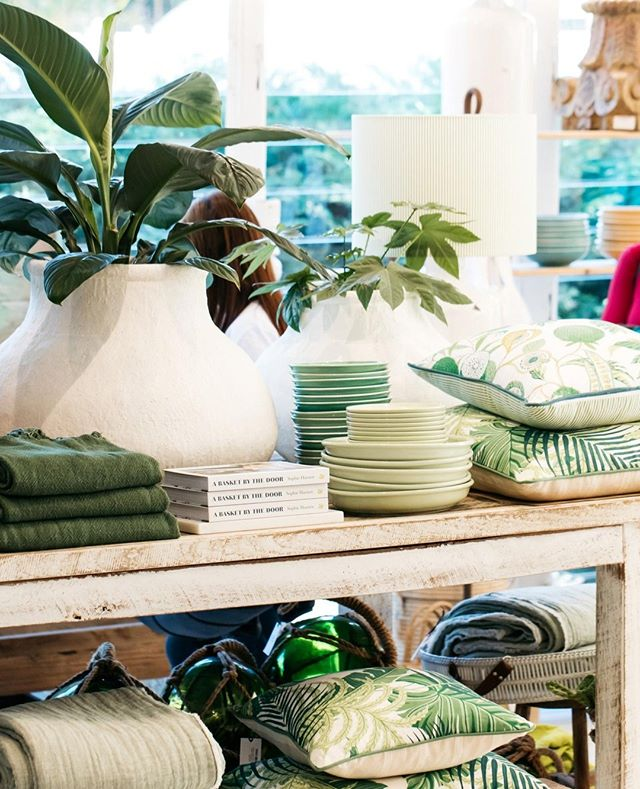 Store details, beautiful shades of greens⁠ #theboathousegroup #theboathousehome #homewares #interiors #palmbeach