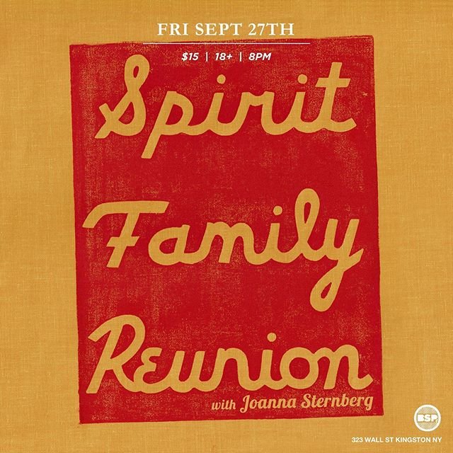 """Very great news that our friend @joannasternberg will be joining us later this month to open up our show at @bspkingston 9/27. If you haven't heard their new record """"Then I Try Some More"""" check it out. Fun fact we both made our new records with the same gifted gentleman @thegrandconcourse at his dear old Room 17 studio in Brooklyn. Gonna be a great night - promptness advised!"""