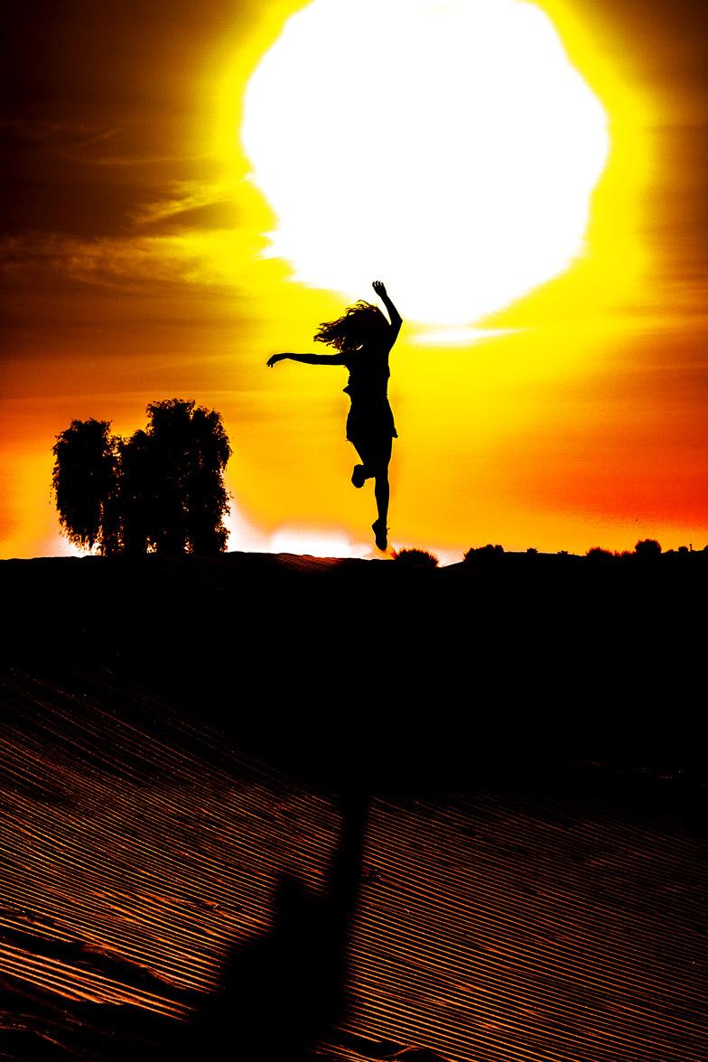Spirit Of A Dancer In Dubai Desert