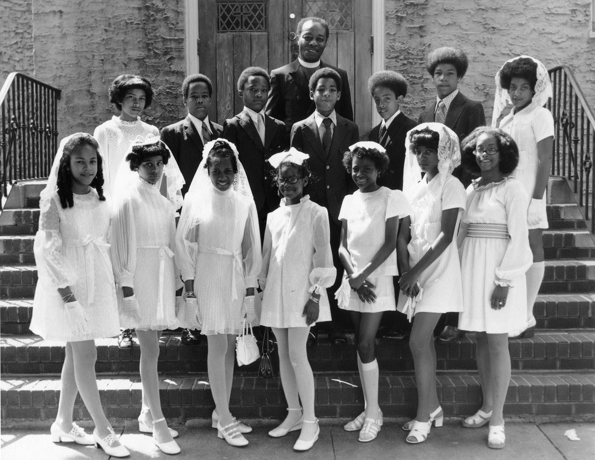 Rev. L. Charles Gray with Confirmation Class of 1970