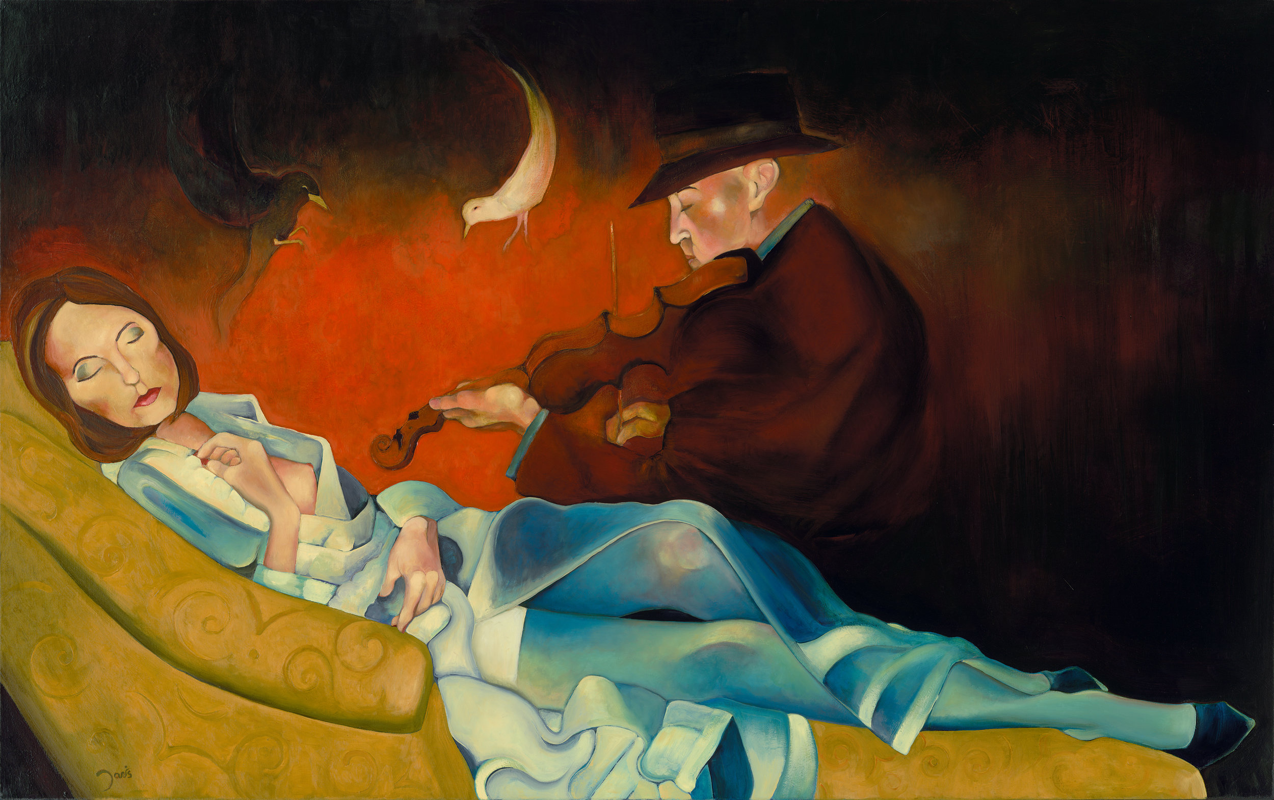 Death and the Blue Stocking Girl