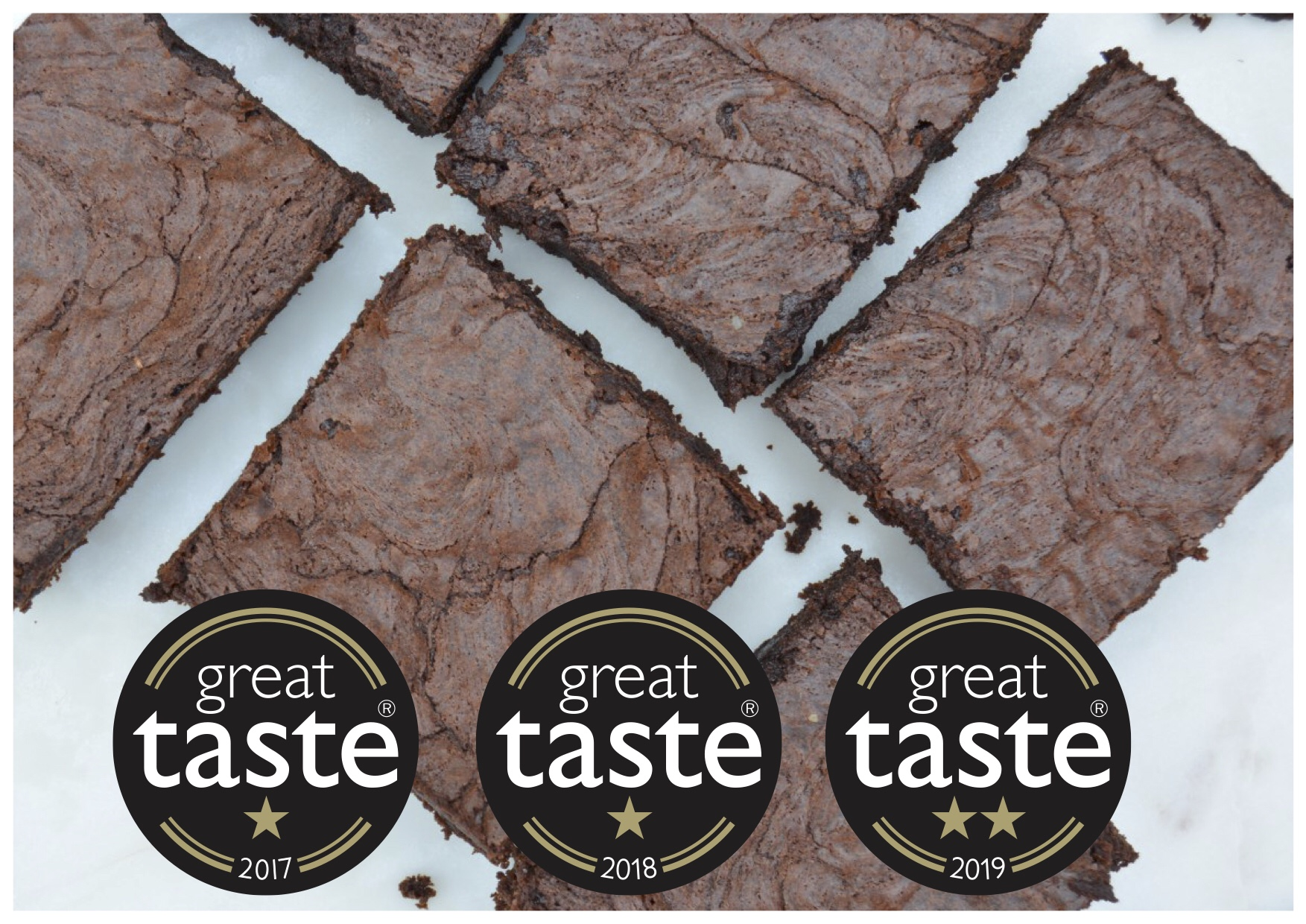 Award-winning Brownies - We have won six Great Taste Awards since 2017 and have been recognised as a Great Taste Producer. We take great pride in offering delicious brownies that are well worth every indulgent bite.