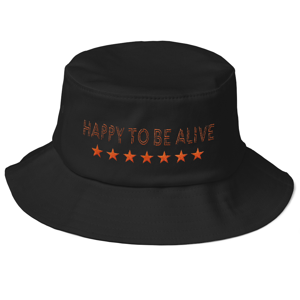 Happy-To-Be-Alive---Bucket---White-black----Orange-text_mockup_Front_Black.png