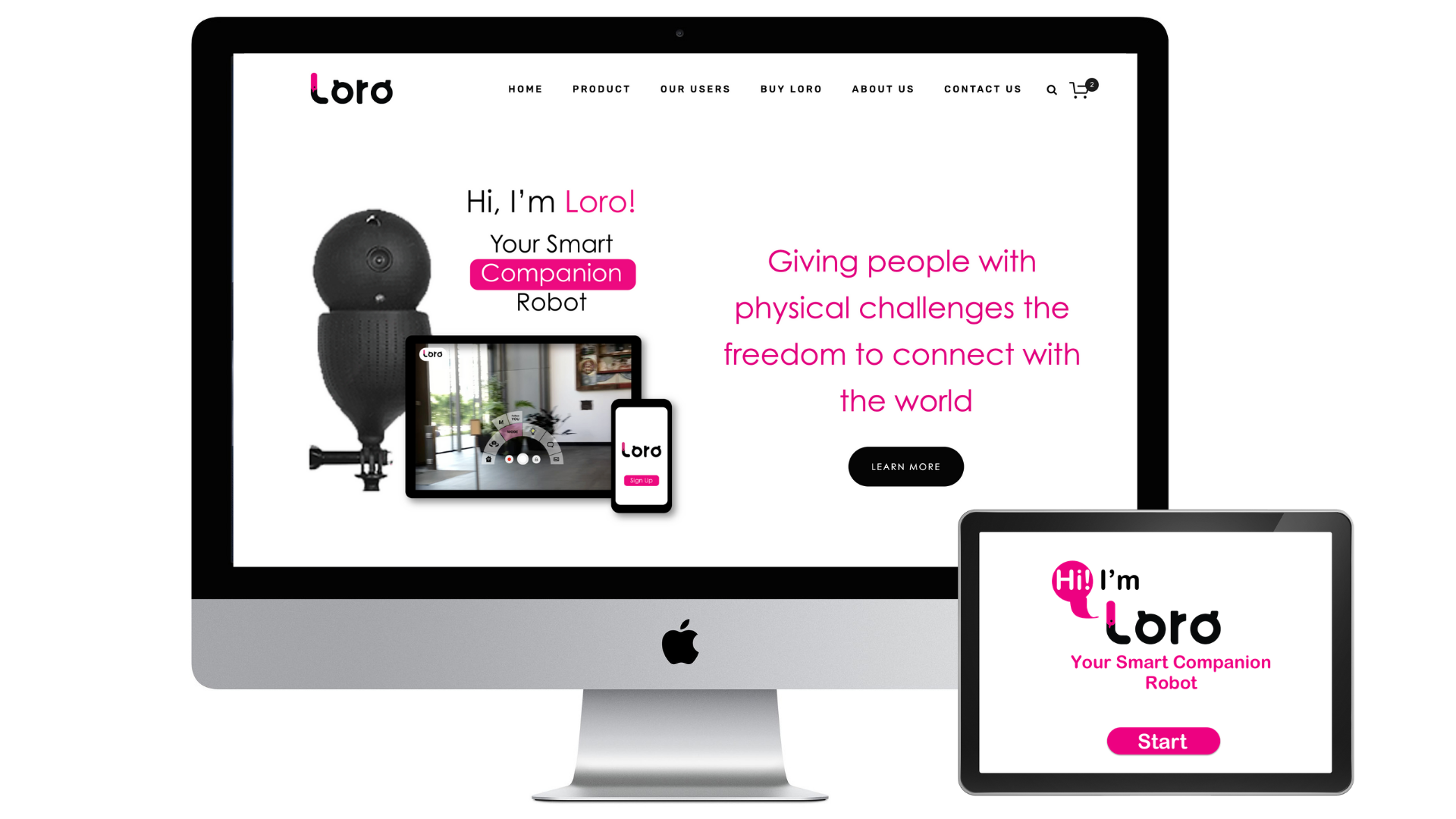loro - A Website Redesigned for Accessibility & A Delightful App On-Boarding UI
