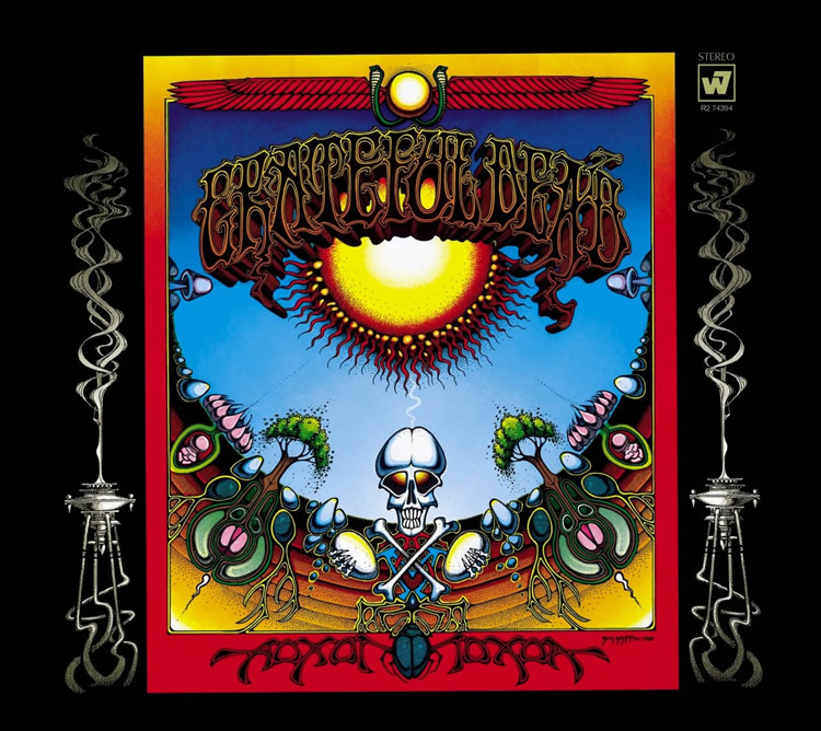 "Grateful Dead ""Aoxomoxoa"" title & album cover by Rick Griffin 1969"