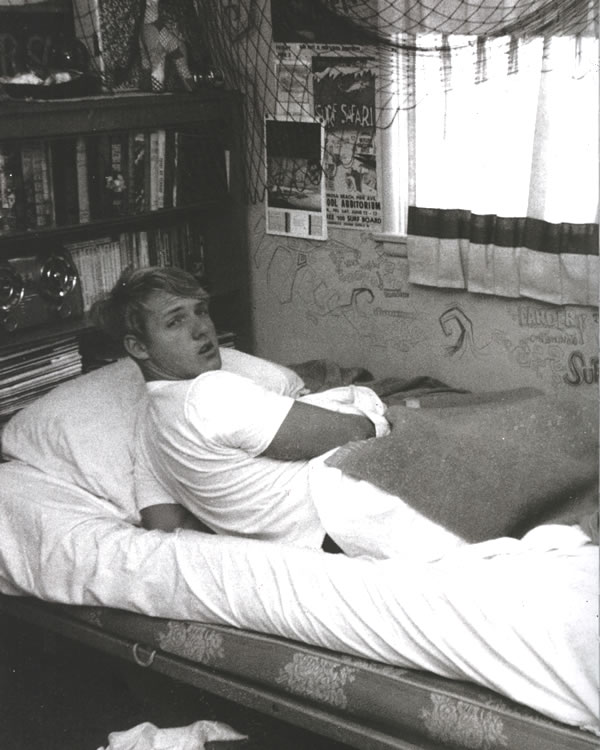 Rick Griffin in his bedroom during high school.