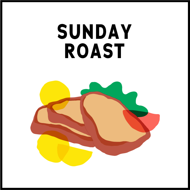 $26 Sunday RoastClassic prime cuts$24 Vegan option - 12pm until Close