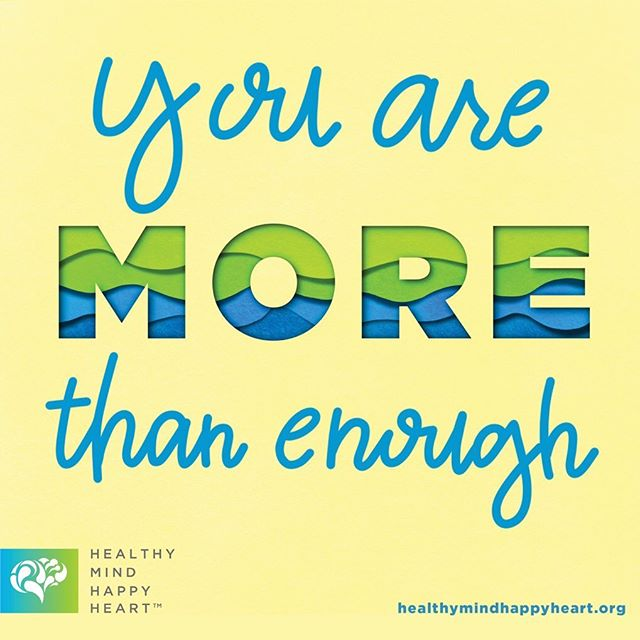Many of us struggle with self-worth every day. When you're feeling down, try to remember this simple truth: you are MORE than enough. . #Truth #Motivation #Encouragement #MoreThanEnough #SelfWorth #SelfCare #MentalHealth #MentalHealthAwareness #HealthyMindHappyHeart #ChooseToJourney #LetsTravelTogether ________________________ 🎨: @sunshine.designs.byjen