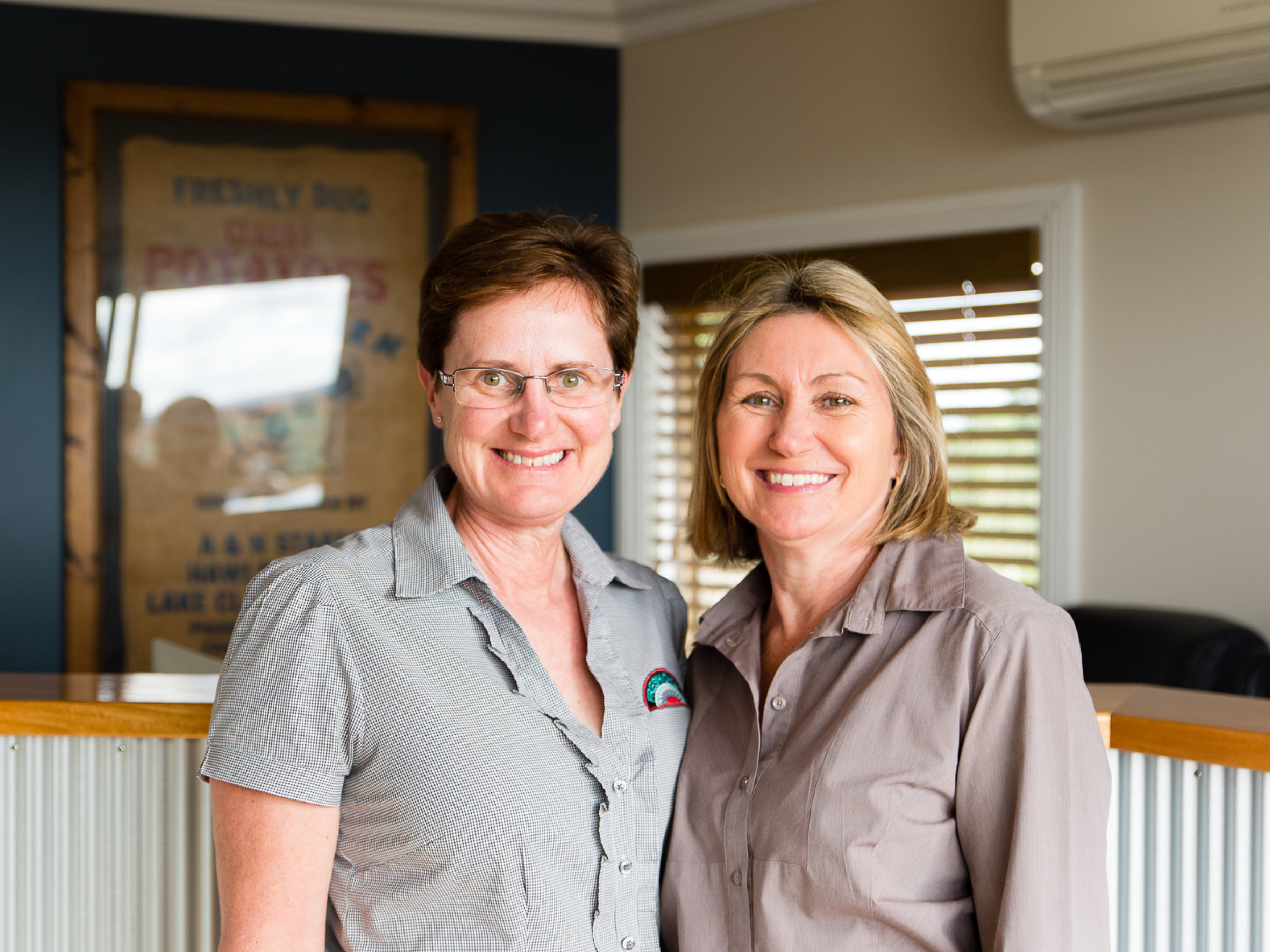 Julianne and Diane are our admin duo. All though they keep their boots clean, they are in the office doing all of the behind the scenes work to make sure we keep ours muddy.