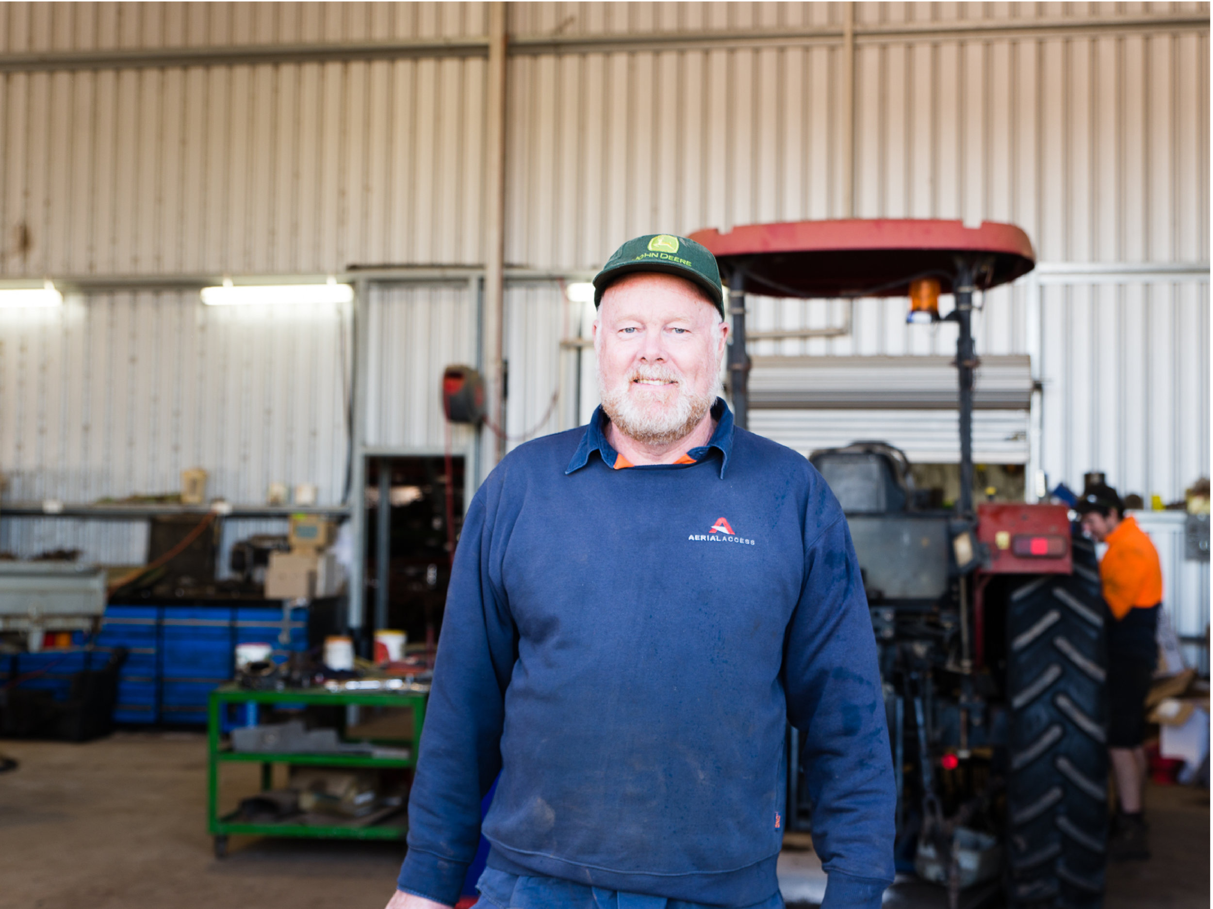 Craig is our farm mechanic. Along with his team they maintaining all of our farm vehicles and harvesters. Craig also helps design and make all of our custom fittings and fixtures for our harvesters and farm machinery.