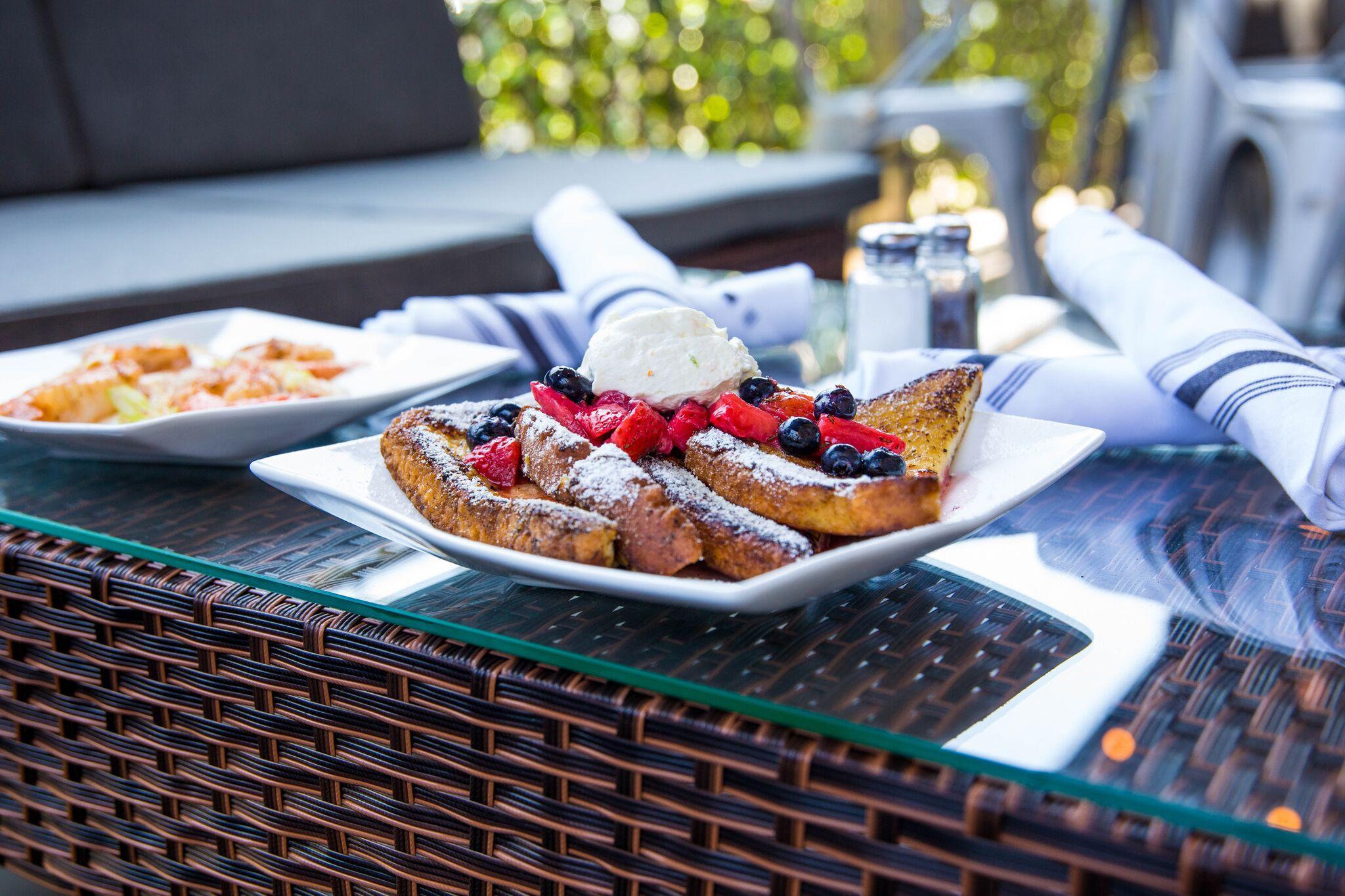 Open air patio. -