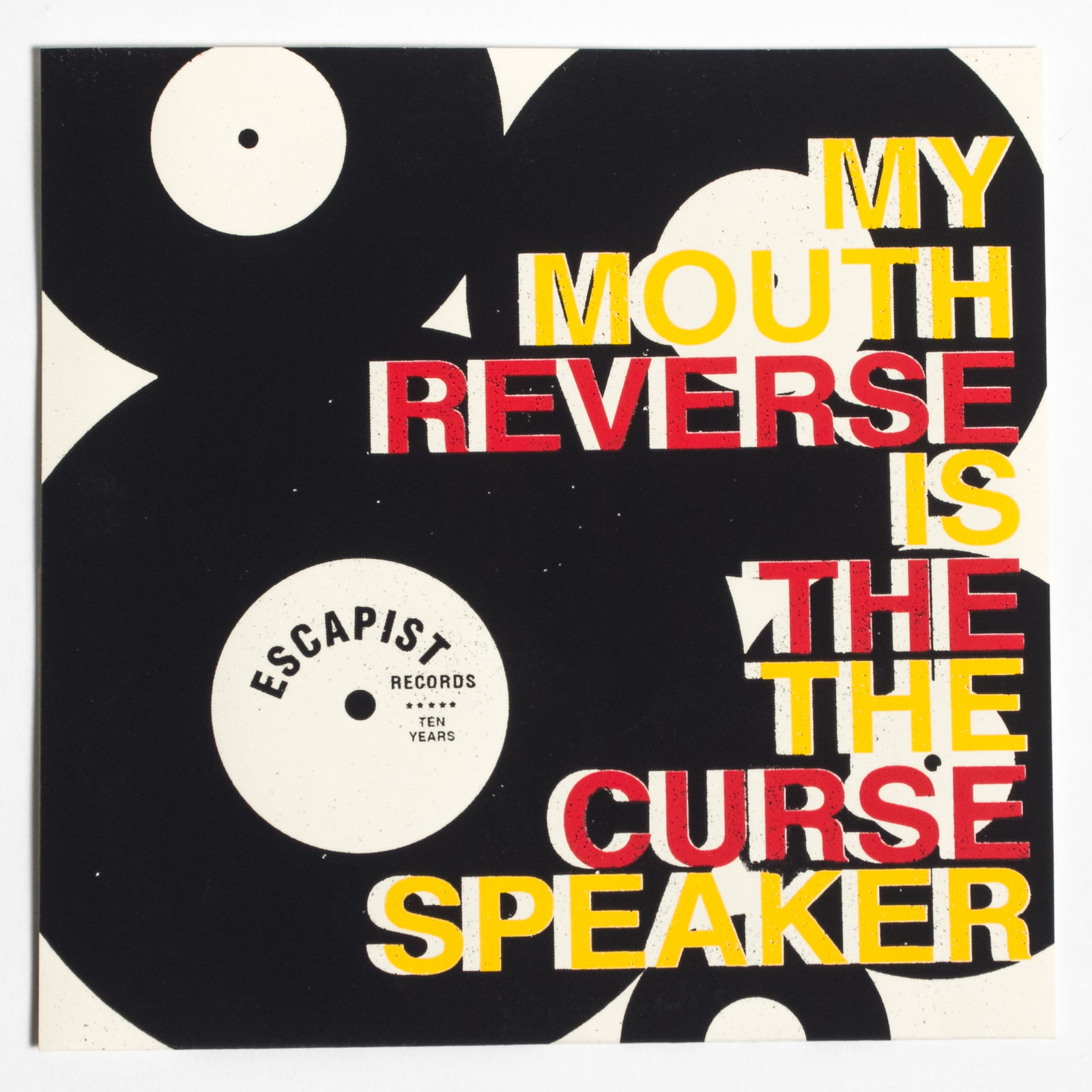 "My Mouth Is The Speaker / Reverse The Curse - Split 7"" Vinyl Layout & Design"