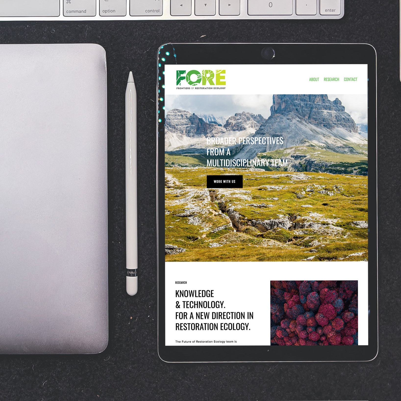 FRONTIERS OF RESTORATION ECOLOGY - Website design & build in Squarespace, SEO, copy proofingAgency: Faction Co.
