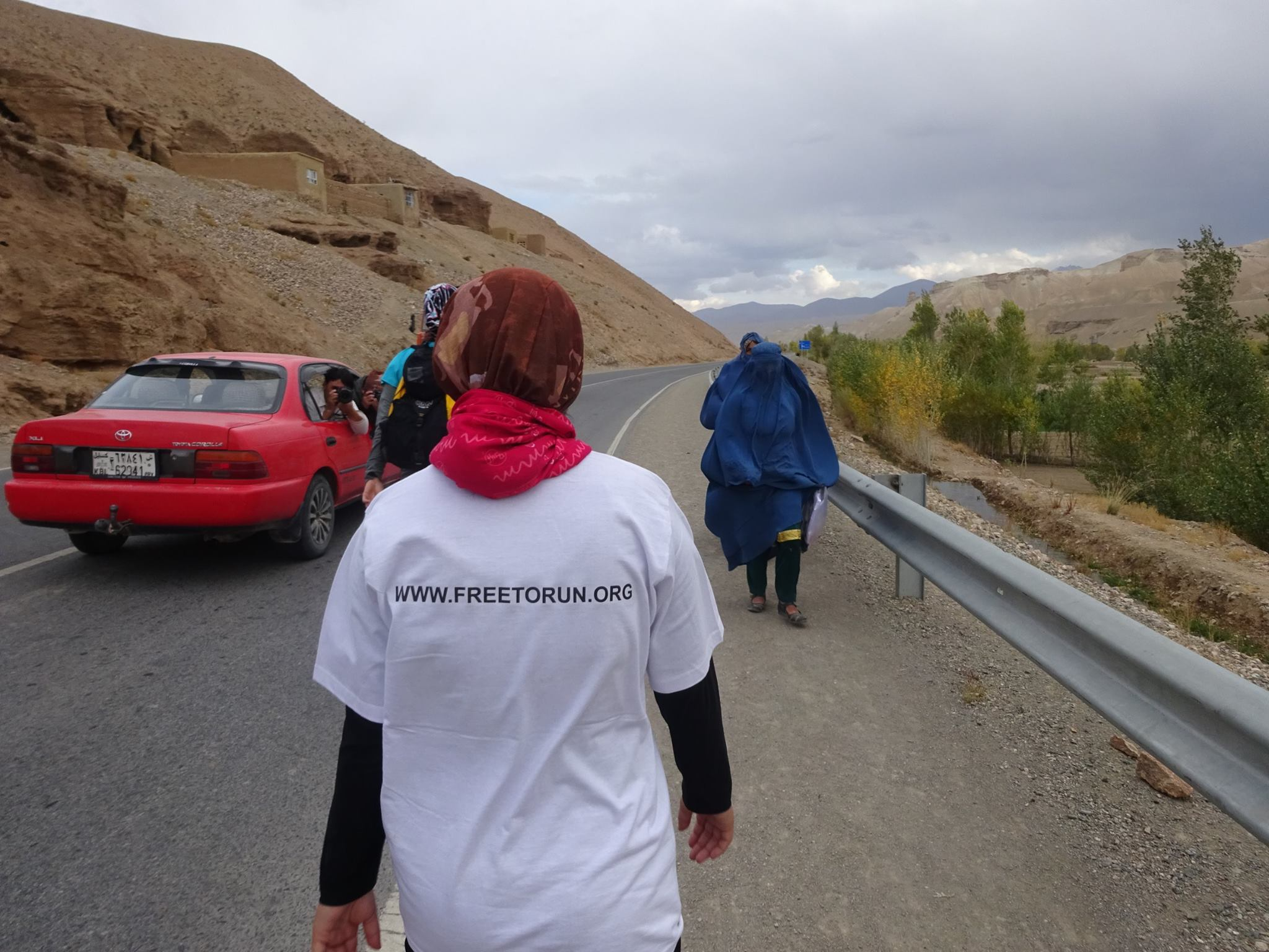 Zainab in the first Marathon of Afghanistan