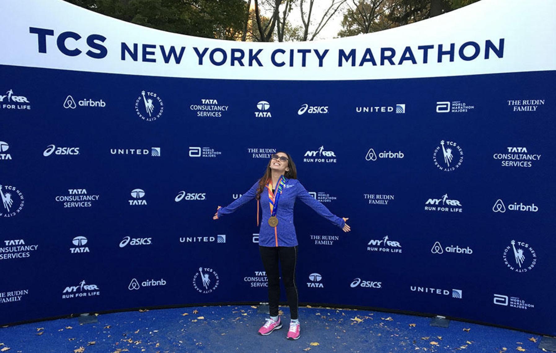 Jessica Wright, 2016 Free to Run marathon runner