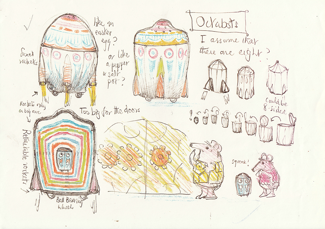 Lo_Early designs for I Am The Eggbot 2015 © Peter Firmin courtesy Daniel Postgate Smallfilms Limited Coolabi Productions Limited.jpg
