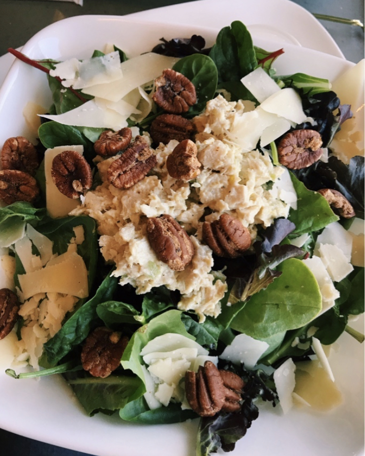 Salad Topped with Spicy Ranch Pecans