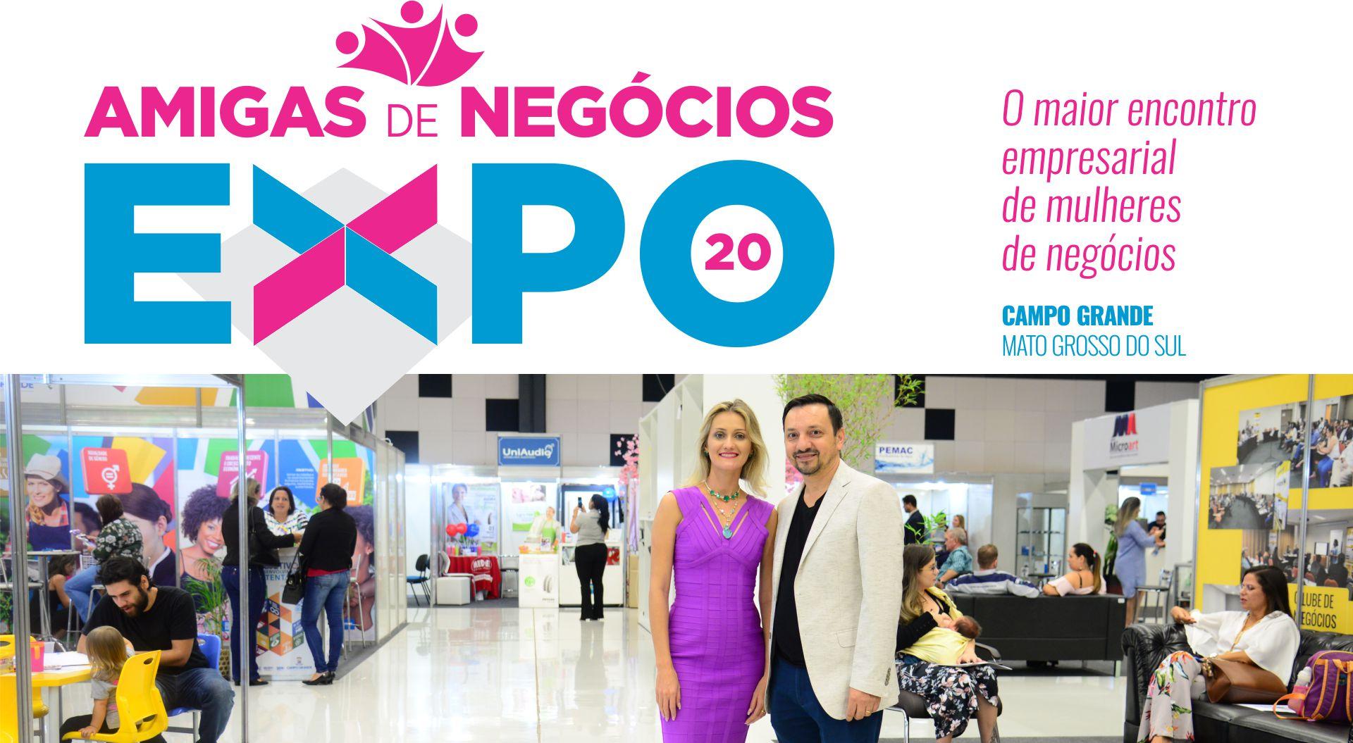 Organizadores da Expo Amigas de Negócios, Noêmia Frazão e Washington Sanches