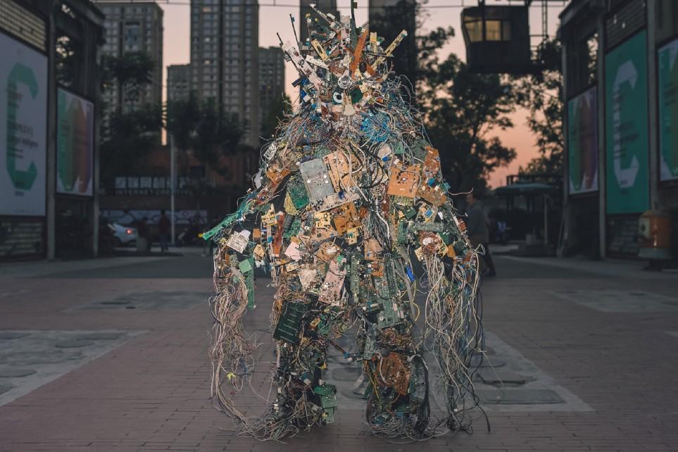 Core Dump — 'Chengdu E-Revenant'  (2018) by Francois Knoetze. Photo by Zidan.