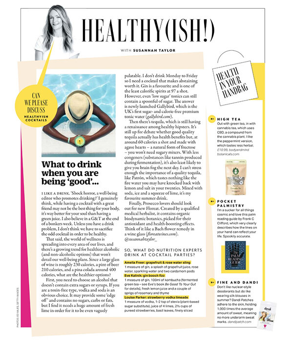 What to Drink When You;re Being 'Good'…. - Grazia   15 July 2019I don't drink Monday to Friday so I need a cocktail that makes abstaining worth it. Gin is a favourite and is one of the least calorific spirits at 79 a shot. However, even 'low-sugar' tonics can still contain a spoonful of sugar. The answer is newly launched Gallybird, which is the U.K's first sugar- and calorie-free premium tonic water. Read the full article.