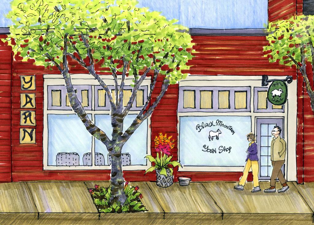 1-Street Scene, Fine Art Illustration, Stephanie Sipp.jpg
