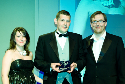 Me, heavily pregnant but proudly handing out awards at the Roses Advertising Awards