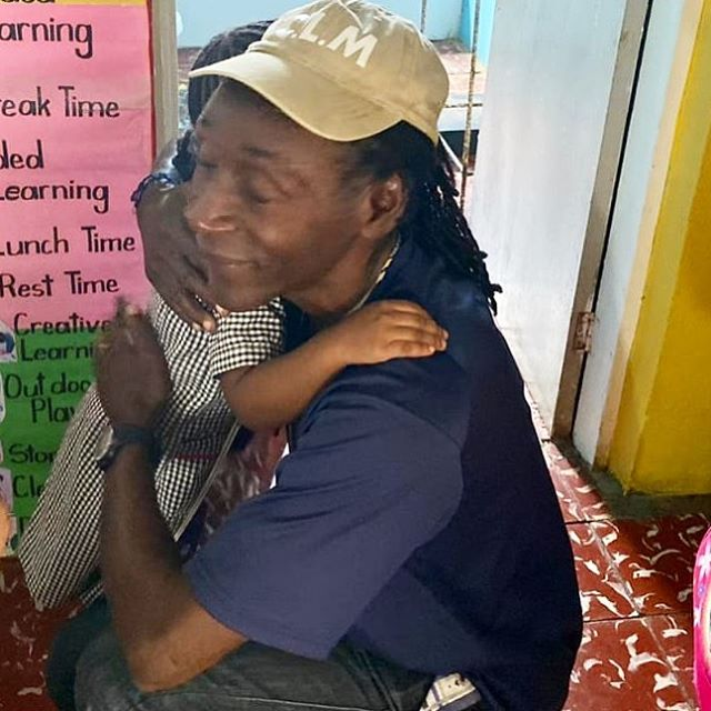 Hugs from littles are the best ❤️ Yesterday we visited a local school in Jamaica to visit with our kids club kids.  Our kids's club supports children after school so they are not wandering on the streets alone.  Join us today!