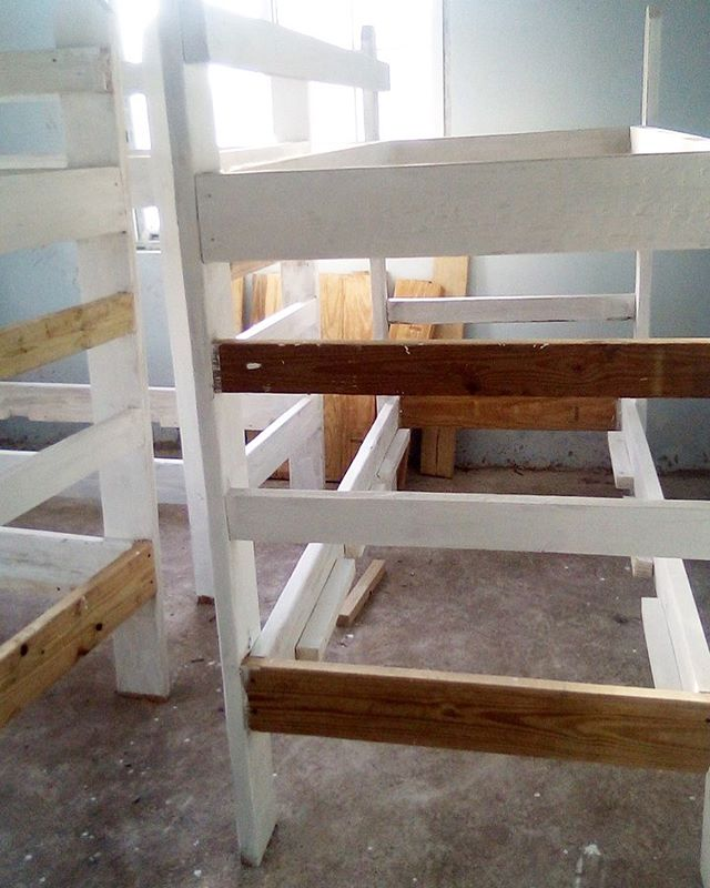 Thanks Ali and Gabe we were able to paint the bunkbeds at our camp! Generous donations such as these are what make our camp operational.