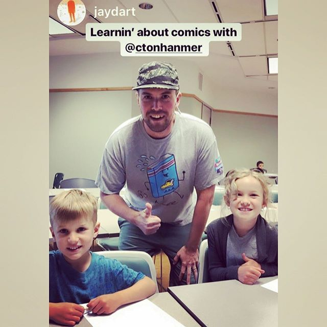Visited @pickeringlibrary last Friday for my latest @tdsrc_cletd comics workshop. What an awesome group of kids! 60+ showed up and they were so into drawing comics! Thanks again, guys!!! #createyourowncomics . . . Thanks also to local artist @jaydart for bringing his crew out! Yay! . . . #read #summer #tdsummerreadingclub2019 #tdsummerreadingclub #claytonhanmer #claytonhanmerillustration #illustration #childrensillustration