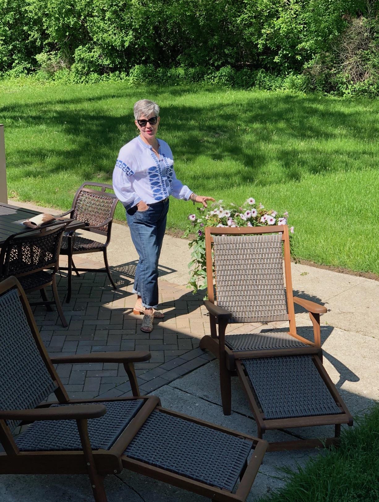 Flower Pots in Spring - Dr Julie Marshall