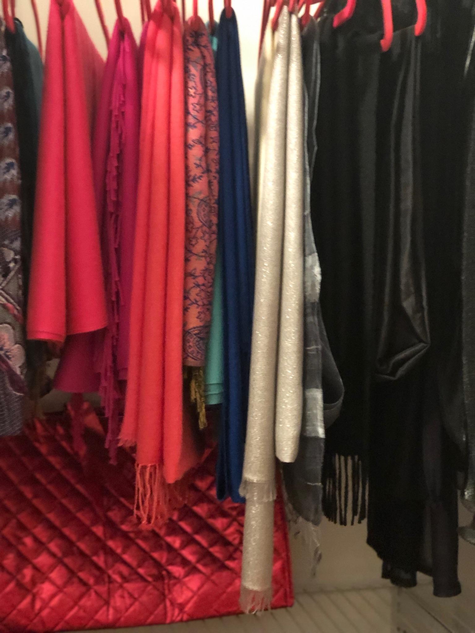 messy closet velvet hangers