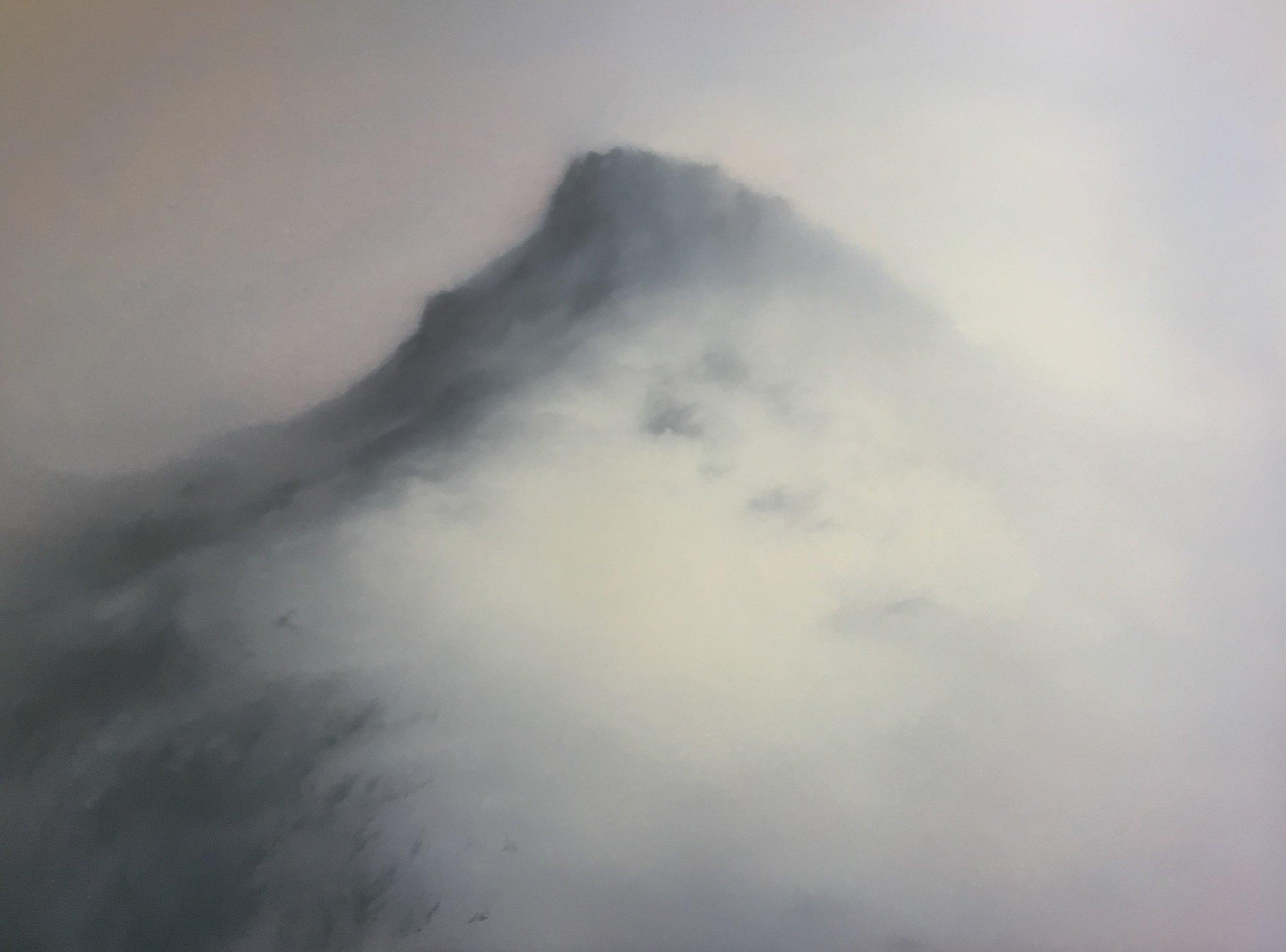 Snow mountain  2019  Oil on copper; 60 x 80 cm