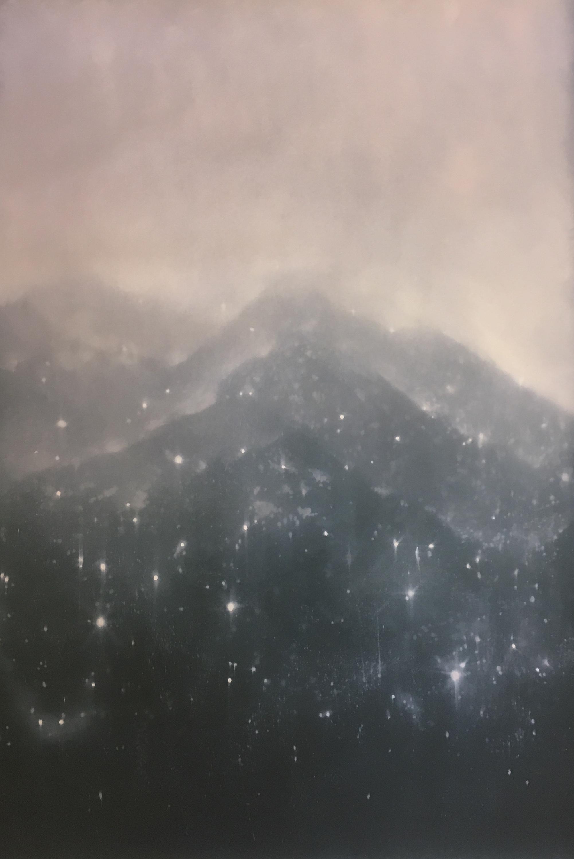Snow  2018  Oil on carborundum; 125 x 90 cm