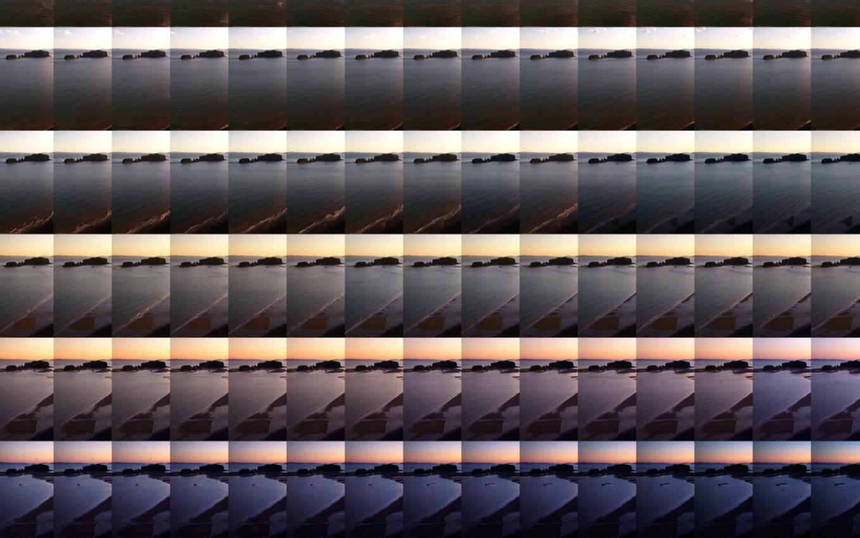 Long Island West - 12h 23m : 25 x 30 minutes  2015 (Detail)  Pigment print; 104 x 70 cm  Edition of 7