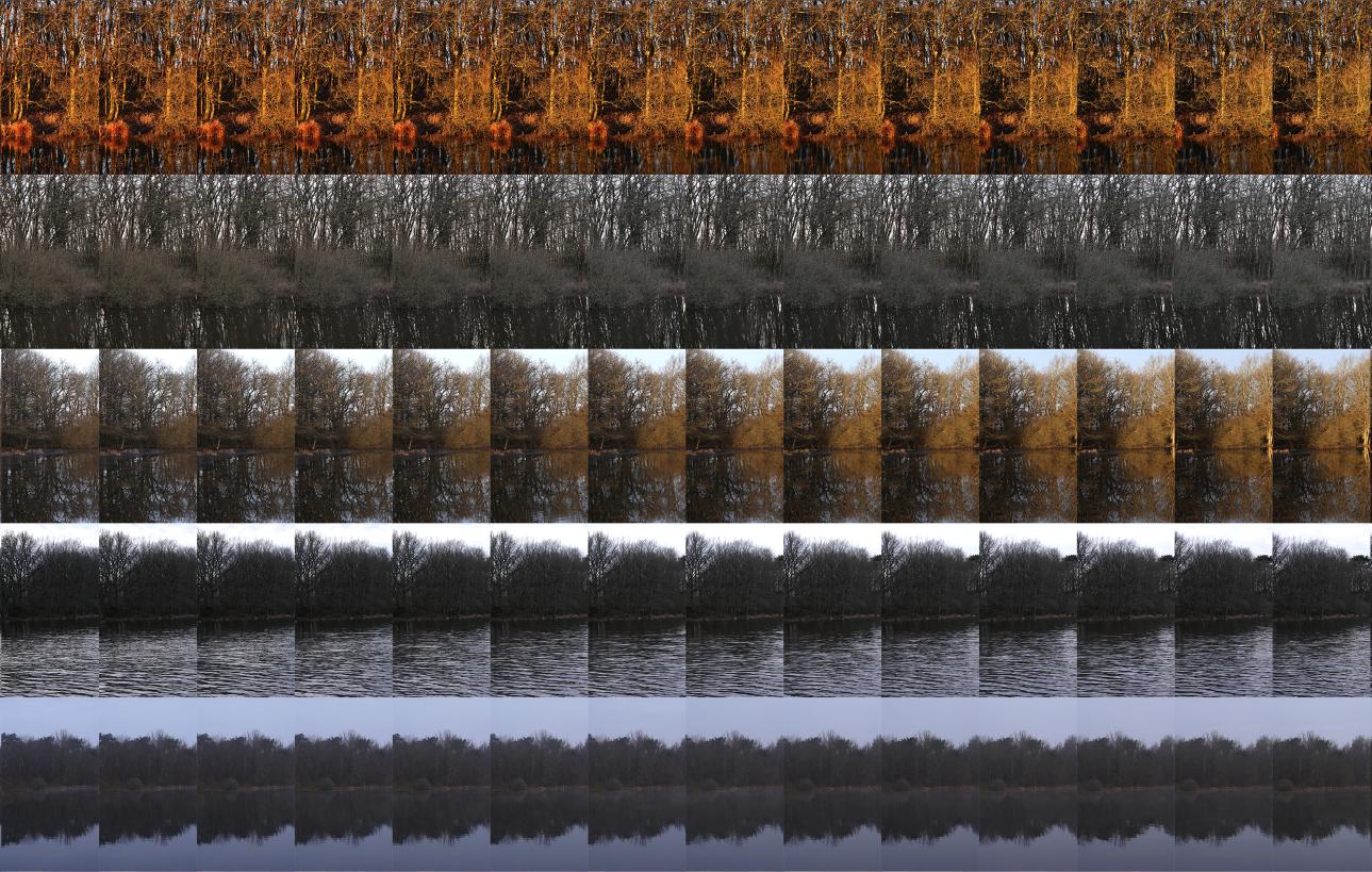 Le Grand Étang Est: 24 hours x 60 minutes  2017 (Detail)  Pigment print; 110 x 150 cm  Edition of 7