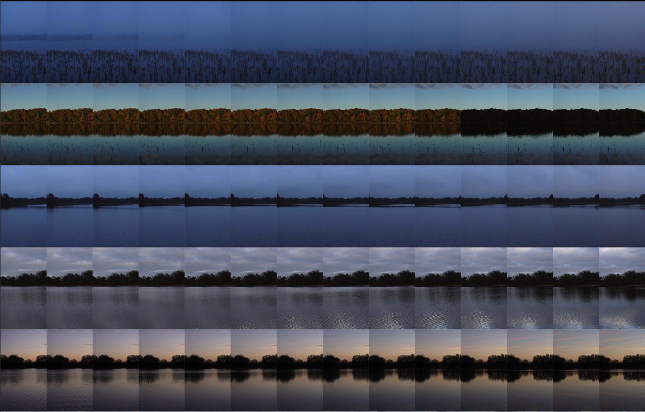 Le Grand Étang Ouest: 24 hours x 60 minutes  2017 (Detail)  Pigment print; 110 x 150 cm  Edition of 7